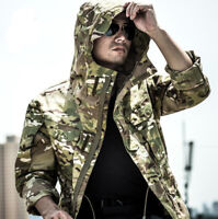 Mens Army Military Combat Tactical Jacket Winter Windproof Hooded Coat Outdoor