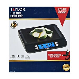 Taylor USB Rechargeable Precision Digital Kitchen Scale, 11lb Capacity 5257576