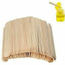 100Pcs Wooden Depilatory Tongue Stick Wax Depressor For Hair Removal Kits New