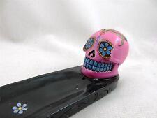 Sugar Skull Incense Holder pink