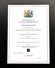 More details for university college degree novelty certificate diploma transcript personalised.
