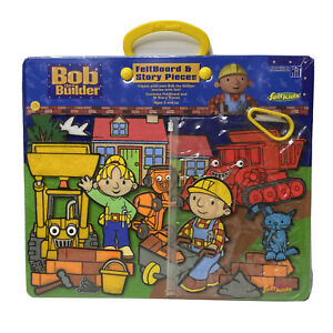 Bob The Builder Feltboard & Story Pieces 2002 NEW Contains Feltboard + 18 Pieces