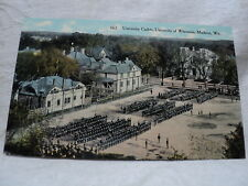 MADISON WI University of Wisconsin Cadets Drilling early 1900's Postcard