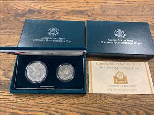 1992-P Christopher Columbus Proof Commemorative 90% Silver Dollar Box COA OGP