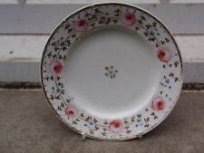 "AN ANTIQUE BLOOR DERBY PORCELAIN RED MARK 1820-1840 ROSE PAINTED PLATE 8"" W (B)"