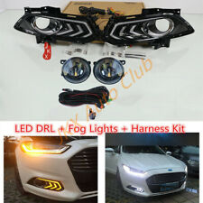 For Ford Fusion Mondeo 2013-2016 LED DRL Turn Signal LED Bulb Fog Wiring j Kit