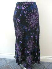 M/&CO womens purple crinkle maxi skirt size 16 RRP £35 boho festival