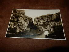 Early Real Photo Postcard - entrance to gorge - Cheddar Somerset