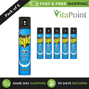 Raid Fly & Wasp Killer Rapid Action For Kills Flying Insects 300ml/ Pack Of 6