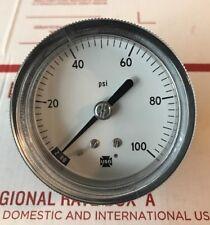"""NEW AMETEK USG GENERAL PANEL MOUNT GAUGE 100 PSI Rear 1/8"""" NPT"""
