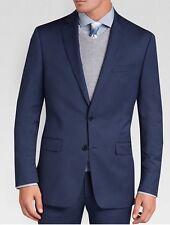 Calvin Klein Men's Navy Blue  100% Wool Suit Slim Fit Jacket Sz. 44-NWT $250.00