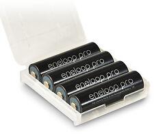 4 x Panasonic Eneloop Pro AA LR6 R06 Akku + 1 x Aufbewahrungs-Akkubox Box