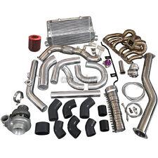 Turbo Intercooler Kit Manifold Downpipe For 98-05 Lexus IS300 2JZ-GE NA-T Black