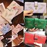 Stylish Women Bifold Wallet Leather Clutch Card Holder Ladies Purse Long Handbag