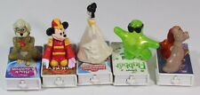 Disney Rolling Mobile Figurine VHS Lot of 5 McDonalds Happy Meal Toy 1998