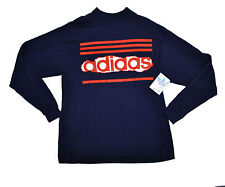 NOS NWT Adidas USA Made 80's vtg Trefoil Pullover L/S T Shirt Large Blue Red