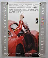 1987 International Challenge Elkhart Lake Road America Ferrari Poster