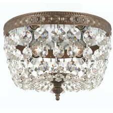 Crystorama 2 Light Clear Crystal Bronze Ceiling Mount 8x5.5' - 708-EB-CL-MWP
