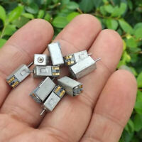 10x Mini DC Motor 3V-5V 20000RPM Micro Electric Motor for Toy Car Crafts DIY SO