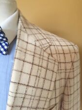 Vintage Hickey Freeman Cream Check Blazer - Size 40R