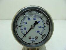 "201L-208O 2"" Glycerin Filled Stainless Steel Gauge 1/8"" NPT LM 0/2000 psi"