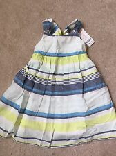 GYMBOREE DRESS 3t BLUE SAFARI NWT NEW EASTER SPRING OUTFIT DRESSY Linen