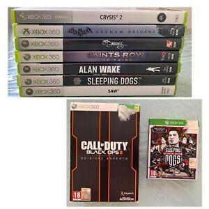 Lotto 7 Giochi Xbox 360 + Collector di Call Of Duty e Sleeping Dogs (LEGGI)