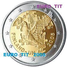 2 €   FINLANDE  LOT DE  1  X  COMMEMORATIVE   2005    60 ANS  DES  NATIONS UNIES
