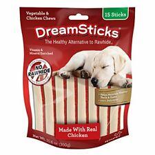 DreamSticks Vegetable & Chicken Chews Rawhide Free 15-Count DBC-02396