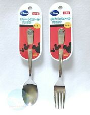 Disney Mickey Mouse Stainless Steel Dessert Spoon and Fork Made in JAPAN Quality