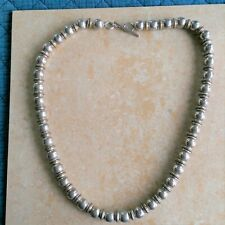 ~Vintage~ Mexico 925 Sterling Silver & Brass Ball Beaded Necklace