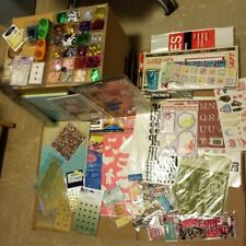 Scrapbooking Lot, Rubber Stamps,Scrap Pictures,Laser Cut Outs,Emboss Templates