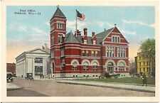 Post Office in Oshkosh WI Postcard