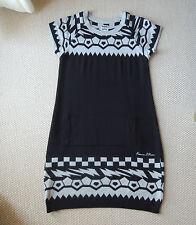 Freeman T. Porter - Strickkleid Kleid - Gr. M  schwarz/grau