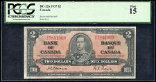 1937 Bank of Canada $2 Banknote - Osborne Signature S/N: A/B7891969