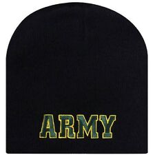 Embroidered Licensed Army Military Beanie Cap Stocking Winter Hat Free Shipping