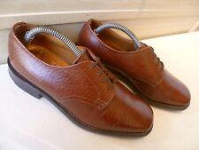 Vtg Cheaney Super Hampton brown derby UK 7 41 Itshide Golfer Goodyear sole