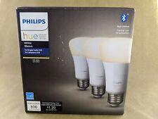 Philips Hue 3-Pack 60W White Bluetooth Smart LED Bulbs - 3-Pack White