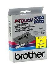 Brother P-touch tx-631 (12mm x 15m) Negro sobre amarillo cinta etiquetas