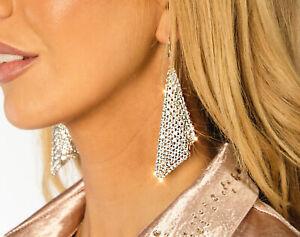Ah! Jewellery® Sterling Silver Crystals from Swarovski Mesh Fish Hook Earrings