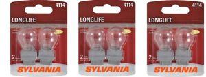 Sylvania LongLife Mini Bulb 4114LL 2 pack each lot of 3