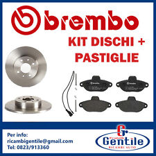 Set Brembo Discs Shoes Home Use Front Fiat 500 from 2007 1.2 LPG 51KW 69CV