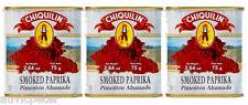 3 Tins Chiquilin Smoked Paprika, Pimenton Ahumado, 3x75g Gluten Free