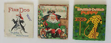 3 Antique Children Books Vintage Used Collectible Storybook Whitman Publish Kids