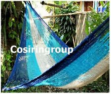 LARGE SLEEPING 2 Persons Cotton Lahu Hammock Blur In/Outdoor - 100% Warranty!