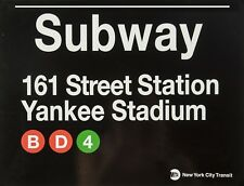 "TIN SIGN "" New York Subway Yankee Stadium""  Deco Garage Wall Decor"