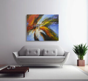 Hungryartist NY artist Large contemporary modern abstract original oil painting