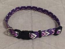 Petmate Purple Chevron Adjustable Dog Collar 3/8 X 8-12in