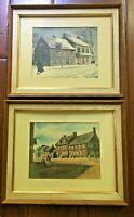 Two Watercolors by Ernest B Walden aka Davis Gray York, PA Subject Matter