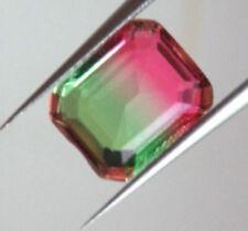 Artificial Non-antural Emerald Gemstone 10x8cm Watermelon Tourmaline Bi-color